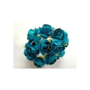 X24 FLEURS ROSES TURQUOISE